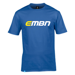 EMBN T-Shirt - Royal Blue & White