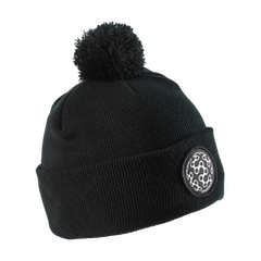 GCN Cable Knit Bobble Beanie - Black