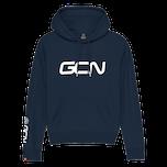 GCN Womens Organic Hoodie - Navy Blue & White