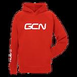 GCN Organic Hoodie - Red & White