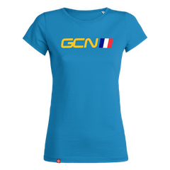 GCN France Womens T-Shirt - Azure Blue