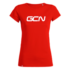 GCN Womens Organic T-Shirt - Red & White