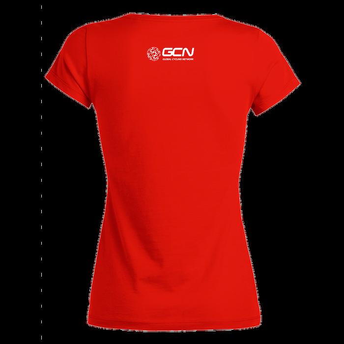 vendita online stili di moda spedizione gratuita GCN Womens Organic T-Shirt - Red & White