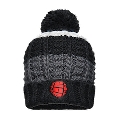 GMBN Striped Knit Beanie - Black