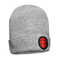 GMBN Plain Knit Beanie - Grey