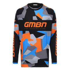 GMBN Camo Team Jersey Long Sleeve - Orange & Blue