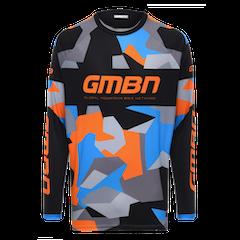 GMBN Camo Team Jersey Long Sleeve - Orange & Blue
