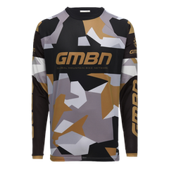 GMBN Camo Team Jersey Long Sleeve - Black & Gold