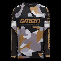 GMBN Camo Team Jersey Long Sleeve - Black & Gold