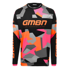 GMBN Camo Team Jersey Long Sleeve - Orange & Pink