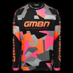 GMBN Camo Team Jersey Long Sleeve - Orange & Pink