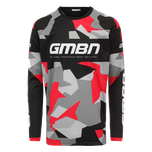 GMBN Camo Team Jersey Long Sleeve - Black & Red