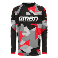 GMBN Camo Team Jersey Long Sleeve - Black & Red