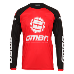 GMBN Team Jersey Long Sleeve - Red & Black