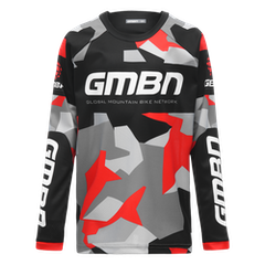 GMBN Camo Kids Team Jersey - Black & Red