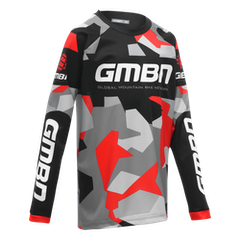 GMBN Camo Kids Team Jersey - Black & Red