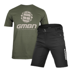 GMBN Military Green T-Shirt and Shorts Bundle
