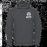 GTN Classic Hoodie - Dark Grey & White