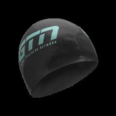 GTN Swim Cap - Black & Turquoise