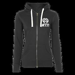 GTN Womens Classic Organic Zip Hoodie - Black