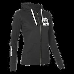 GTN Women's Classic Organic Zip Hoodie - Black