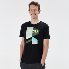 T-shirt Strive - nero e verde